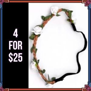 Accessories - 4 FOR $25 🎁🎄🍾🥂 Flower Garland Headband